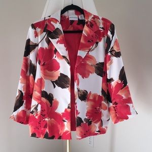 Open Floral Jacket Size 16